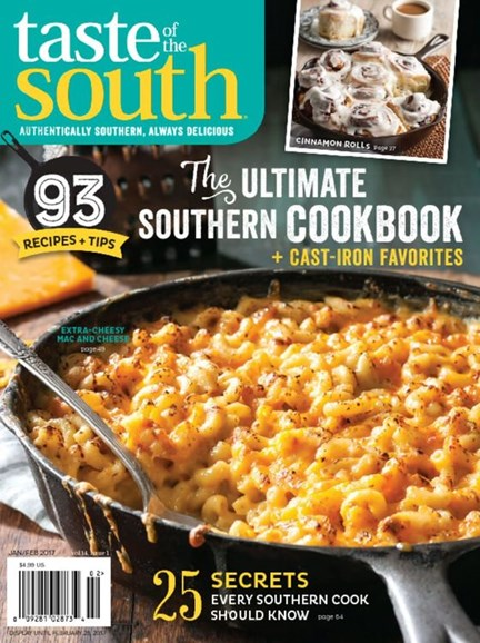 Taste of the South Cover - 1/1/2017