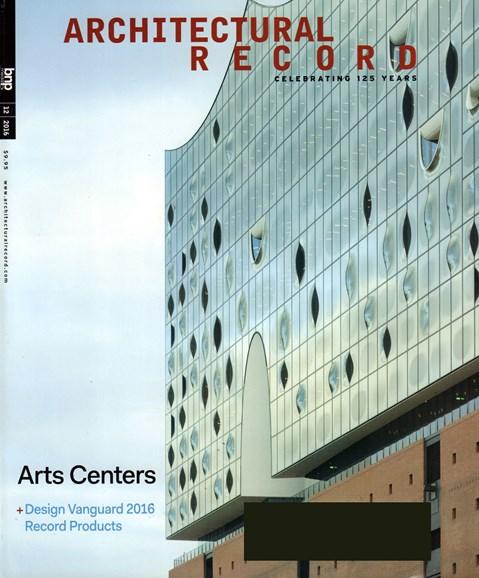Architectural Record Cover - 12/1/2016