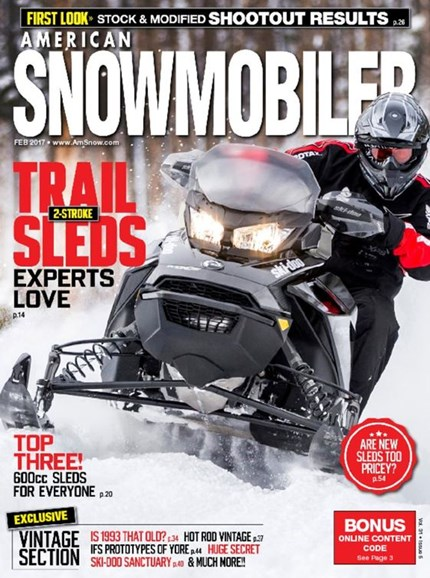 American Snowmobiler Cover - 2/1/2017