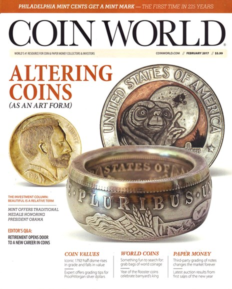 Coin World Weekly Cover - 2/1/2017