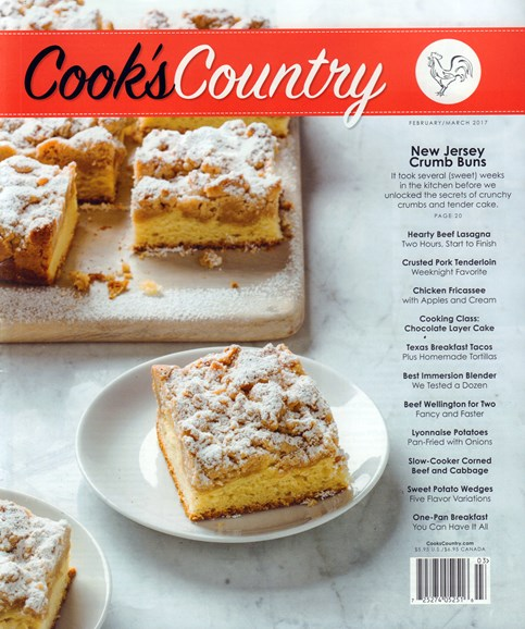 Cook's Country Cover - 2/1/2017