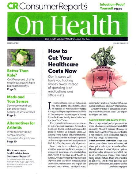 Consumer Reports On Health Cover - 2/1/2017
