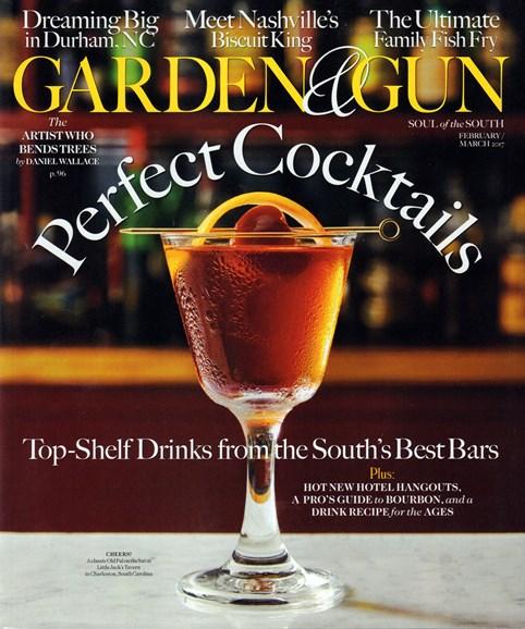 Garden & Gun Cover - 2/1/2017