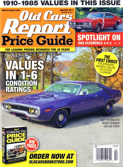 Old Cars Report Price Guide Cover - 1/1/2017