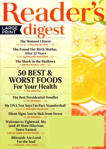 Reader's Digest - Large Print Edition Cover - 2/1/2017