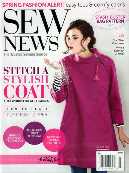 Sew News Cover - 2/1/2017