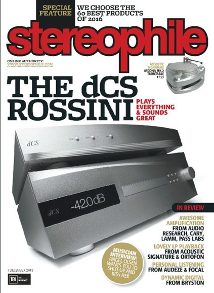Stereophile Cover - 12/1/2016