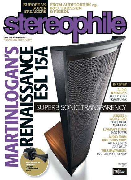 Stereophile Cover - 1/1/2017