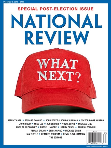 National Review Cover - 12/5/2016