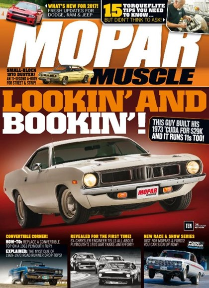 Mopar Muscle Cover - 12/1/2016