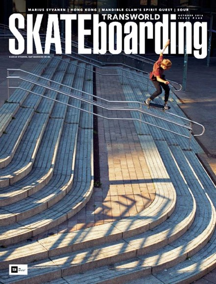 Transworld SKATEboarding Cover - 10/1/2016