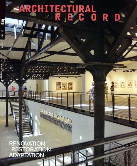 Architectural Record Cover - 2/1/2017