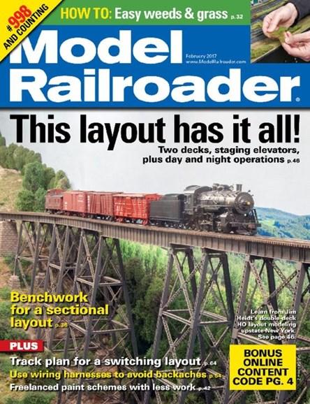 Model Railroader Cover - 2/1/2017