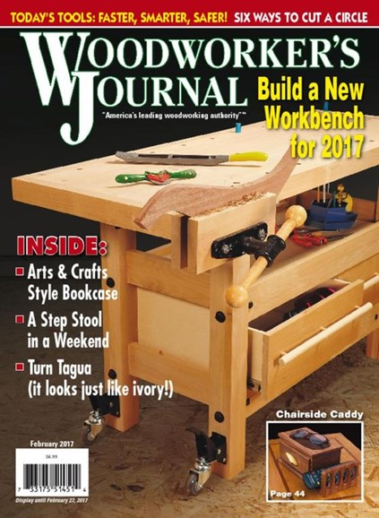 Woodworker's Journal Cover - 2/1/2017