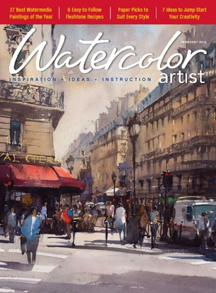 Watercolor Artist Cover - 2/1/2016