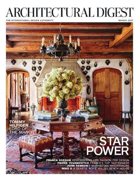 Architectural Digest Cover - 3/1/2017