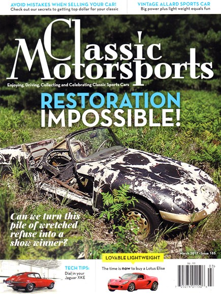 Classic Motorsports Cover - 3/1/2017