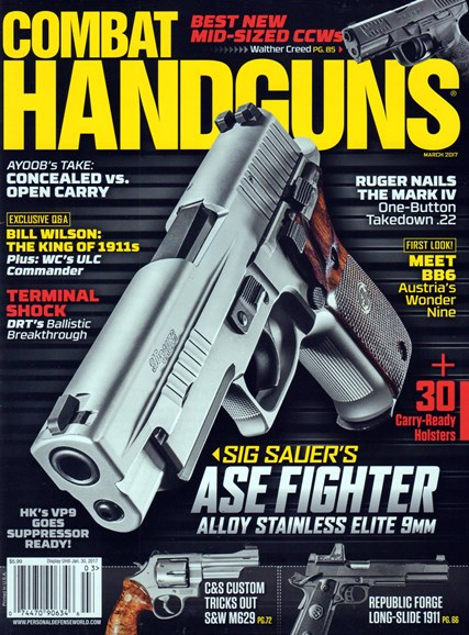 Combat Handguns Cover - 3/1/2017