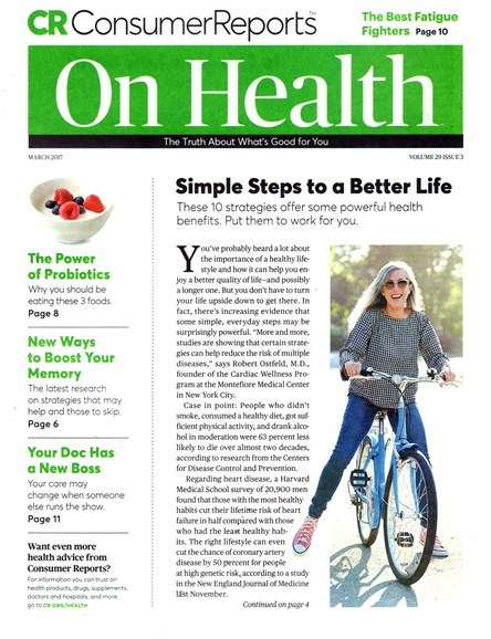 Consumer Reports On Health Cover - 3/1/2017