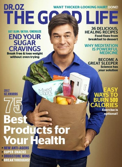 Dr. Oz The Good Life Cover - 3/1/2017