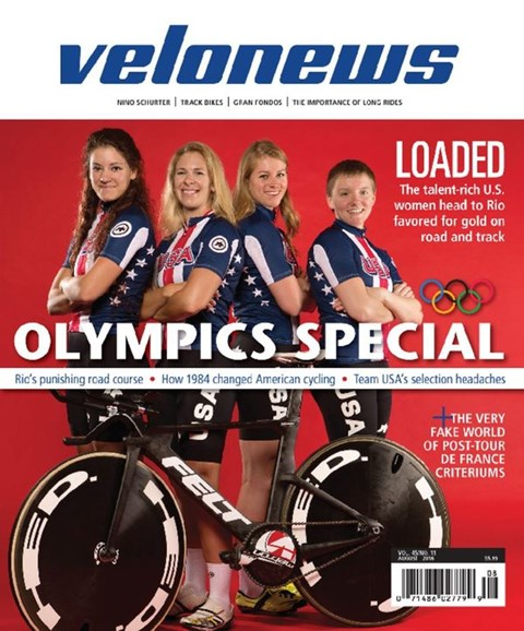 VeloNews Cover - 8/1/2016
