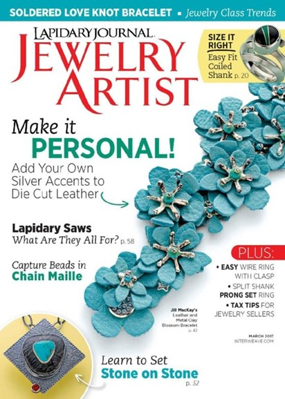 Lapidary Journal Jewelry Artist Cover - 3/1/2017