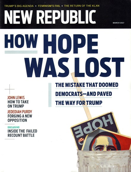 The New Republic Cover - 3/1/2017