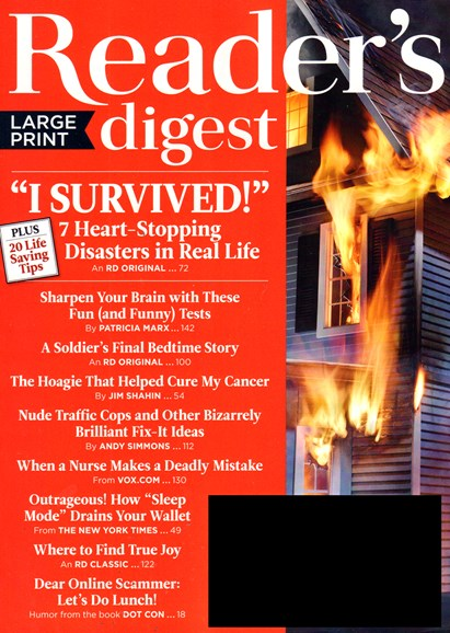 Reader's Digest - Large Print Edition Cover - 3/1/2017