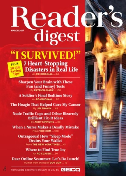 Reader's Digest Cover - 3/1/2017