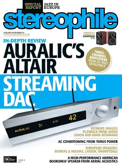 Stereophile Cover - 3/1/2017