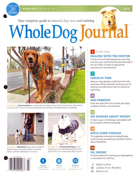 Whole Dog Journal Cover - 3/1/2017