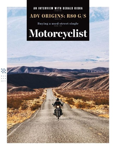 Motorcyclist Cover - 3/1/2017