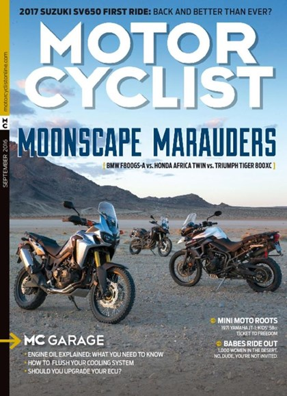 Motorcyclist Cover - 9/1/2016