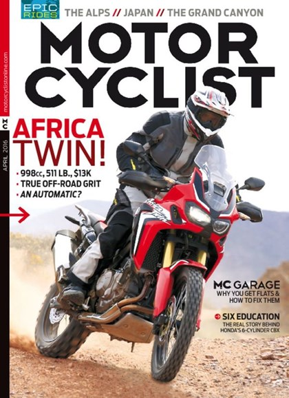 Motorcyclist Cover - 4/1/2016