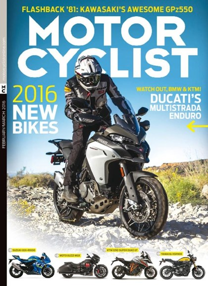 Motorcyclist Cover - 2/1/2016