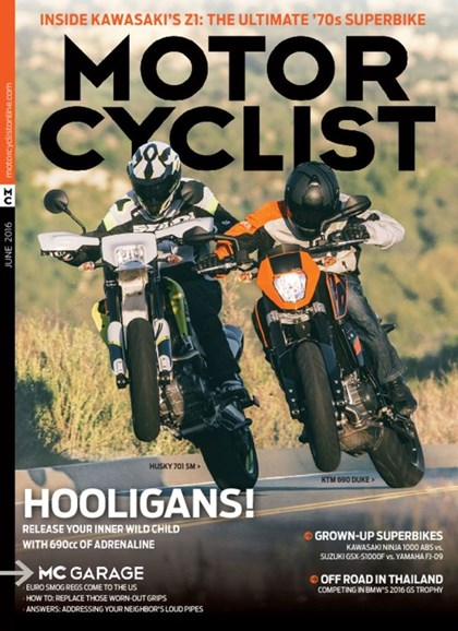 Motorcyclist Cover - 6/1/2016