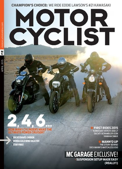 Motorcyclist Cover - 4/1/2015