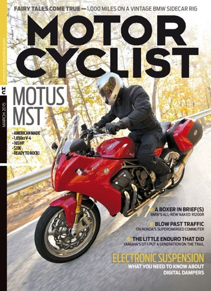 Motorcyclist Cover - 3/1/2015