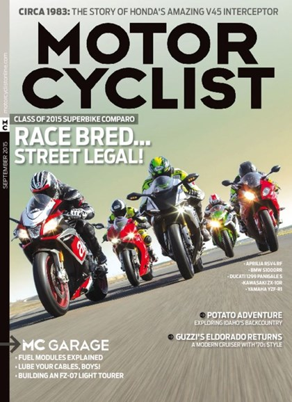 Motorcyclist Cover - 9/1/2015