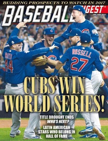 Baseball Digest Cover - 1/1/2017