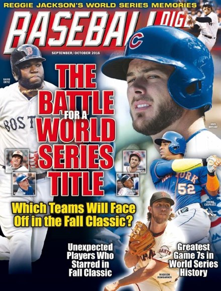 Baseball Digest Cover - 9/1/2016