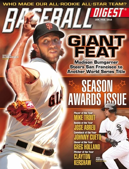 Baseball Digest Cover - 1/1/2015