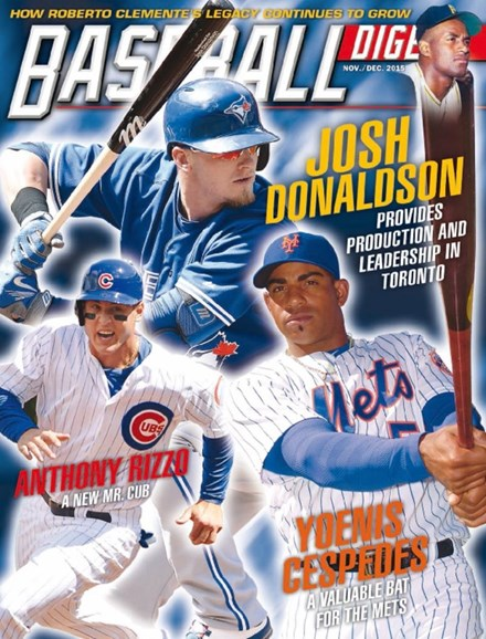 Baseball Digest Cover - 11/1/2015
