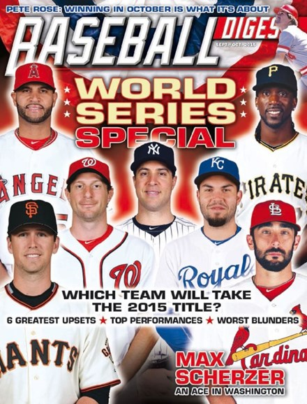 Baseball Digest Cover - 9/1/2015