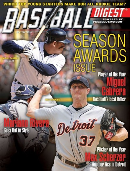 Baseball Digest Cover - 1/1/2014