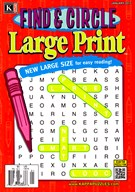 Find and Circle Large Print Magazine 1/1/2017