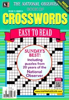 The National Observer Book of Crosswords Magazine 11/1/2016