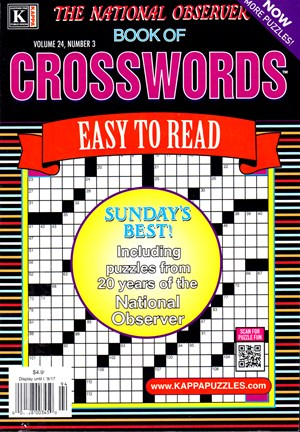 The National Observer Book of Crosswords Magazine | 3/2017 Cover