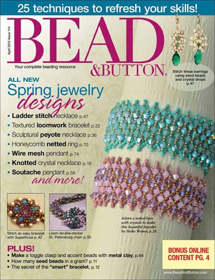 Bead & Button Cover - 4/1/2013