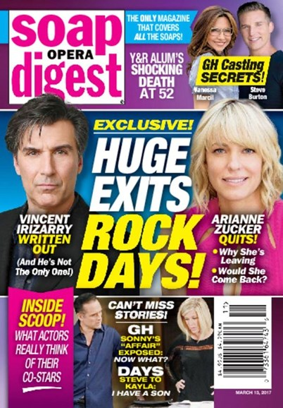 Soap Opera Digest Cover - 3/13/2017